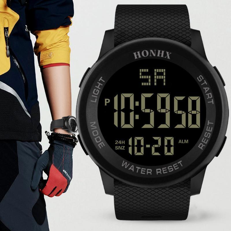 Uomini Analogico Digitale Sport LED impermeabile orologio da polso orologi sport esterni della vigilanza multifunzionale Uomini Student polso