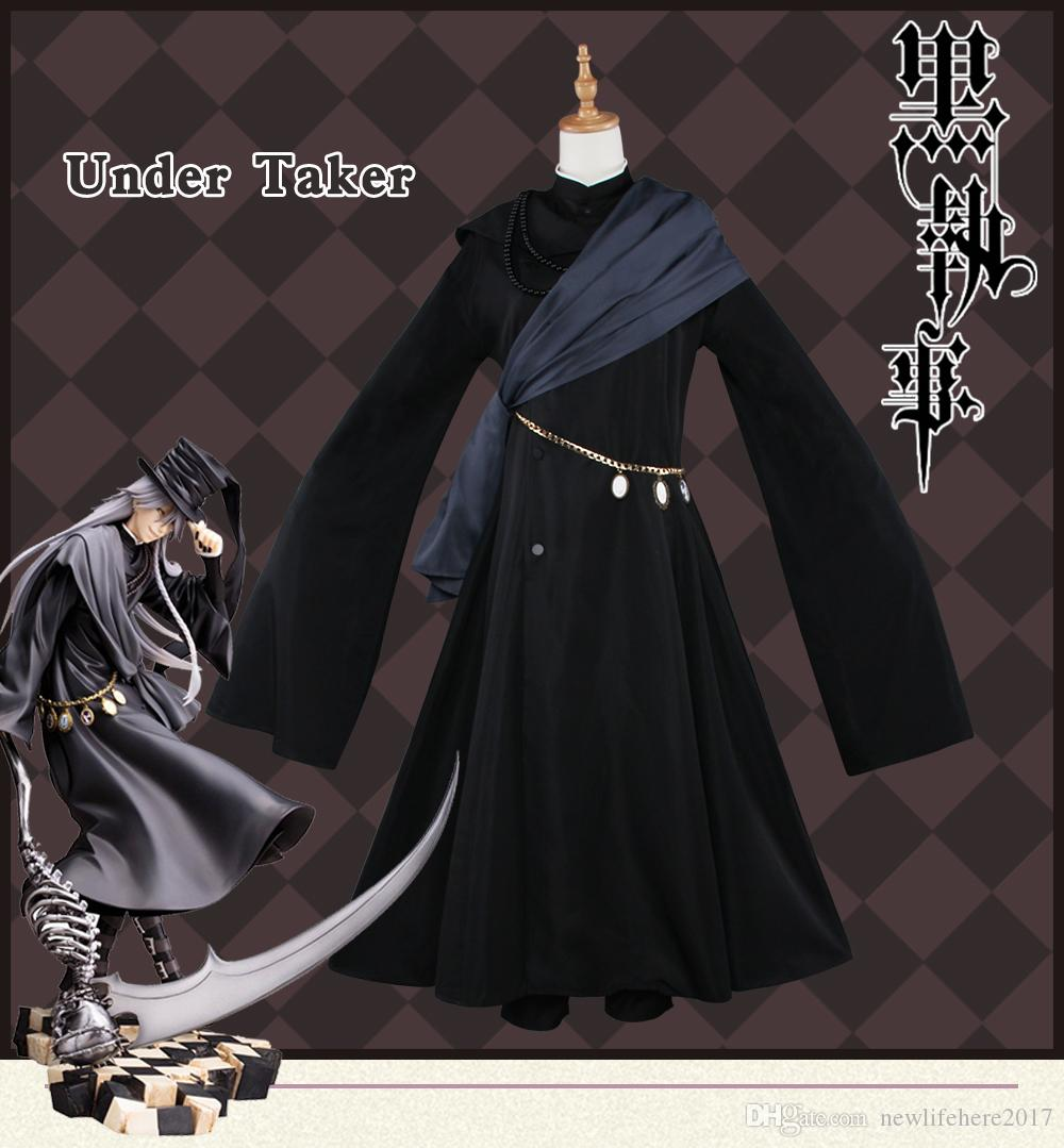 Under Taker Cosplay Costume Butler Noir Livre du Cirque Costume Butler Noir Cosplay Kuroshitsuji Costume Under Taker Kuroshitsuj