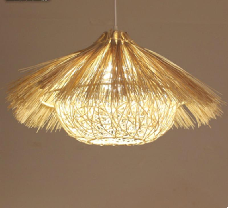 new style d0e5f 0eea2 Rattan Chandelier Bamboo Nest House Lamp Bar Restaurant Balcony Southeast  Wine Chandelier Ceiling Lighting Hanging Lamps From Wl8888, &Price;| ...
