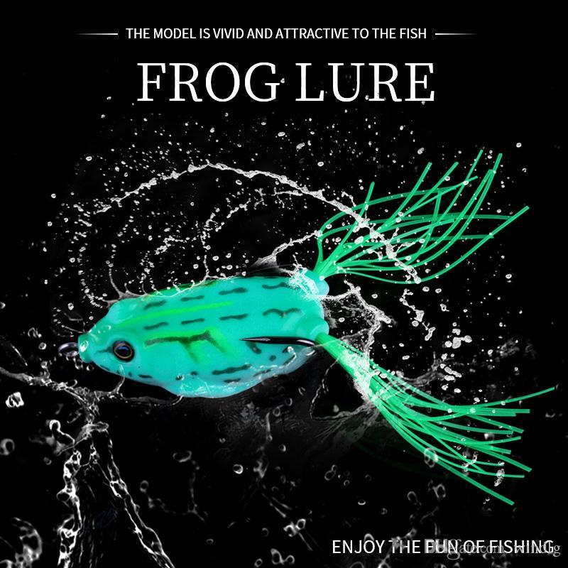 Hengjia 60pcs Topwater Frog señuelo alto carbono Soft Bait 5.5 CM 12.5G de agua dulce Bass Walleye Crappie Minnow suave para el señuelo