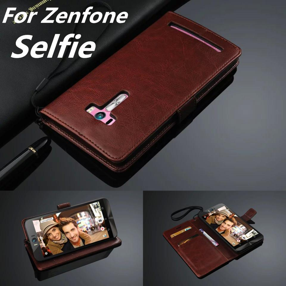 ellphones & Telecommunications capa Zenfone Selfie card holder cover case For ASUS Zenfone Selfie ZD551KL leather phone case wallet flip ...