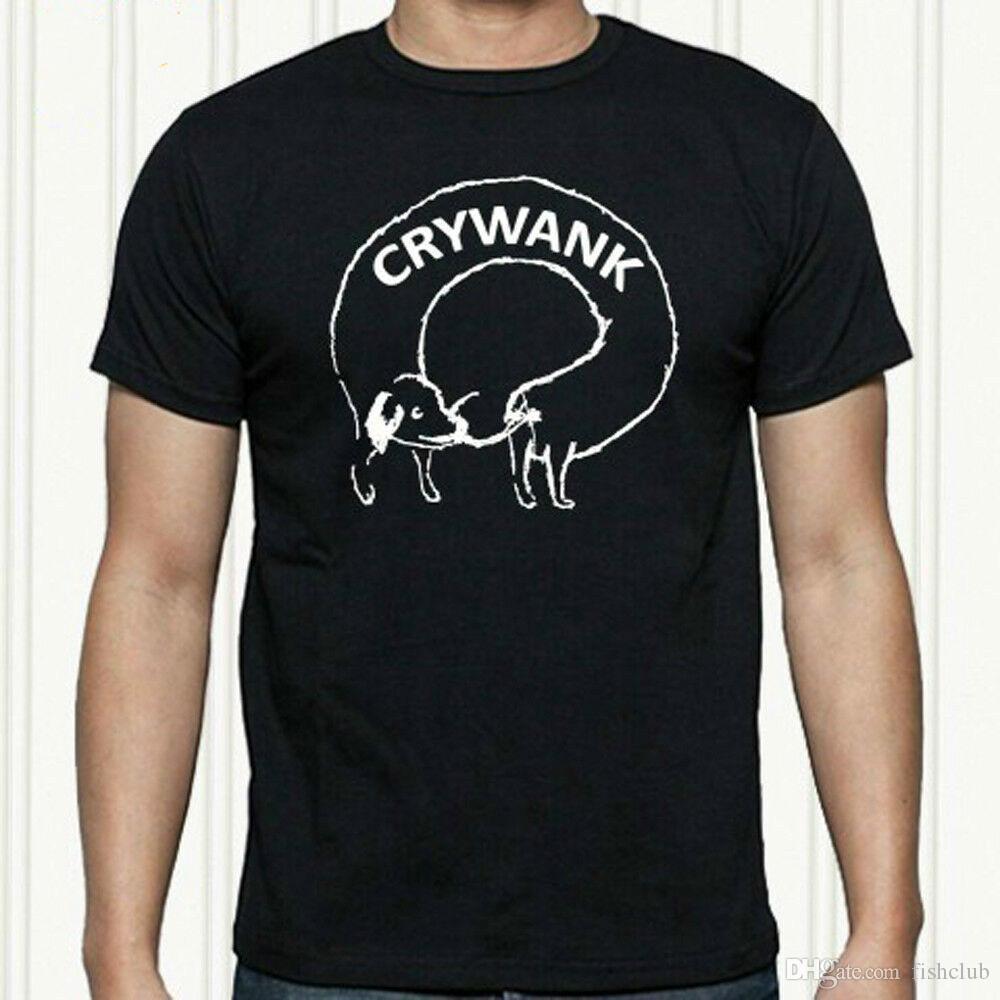 Rock Band T-shirt do logotipo Crywank Punk homens de preto