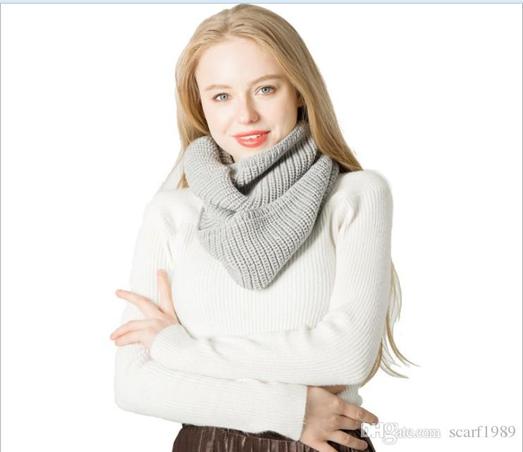 Autumn and winter woollen scarf ingot flower head knitting scarf wholesale tonglu manufacturers 55x30cm