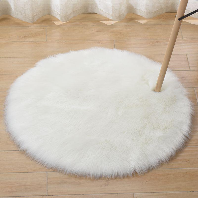 Wholesale Plush wool carpet round floor mat plush living room blankets tea table ground mat floor carpet bedroom mat custom size