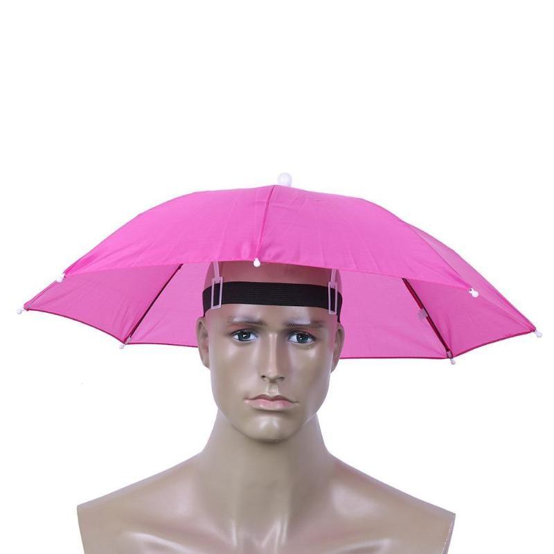 طوي المحمولة اطلاعات مفيدة مظلة قبعة الرأس مظلة للمخيم الشاطئ كاب الصيد المشي لمسافات طويلة رئيس قبعات الرياضة في الهواء الطلق RainGear