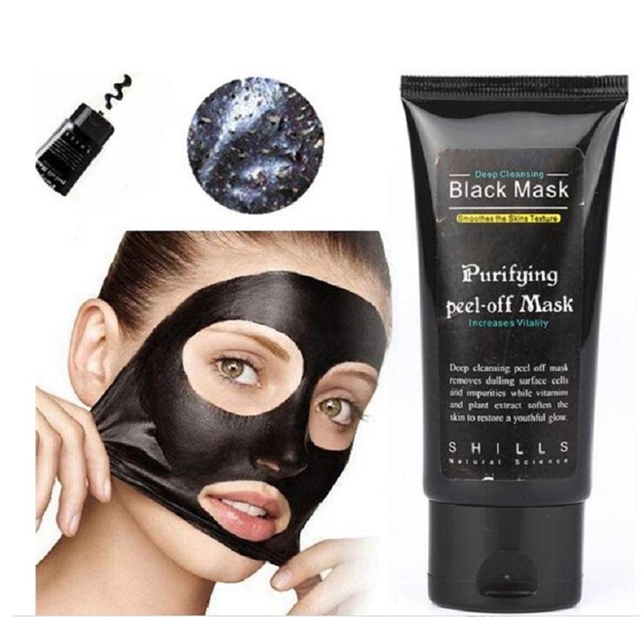 Siyah maske Emme siyah nokta sökücüler Siyah yüz maskesi soyun maskeler kapalı yüz maskesi 50ml shills Derin Temizleyici arındırıcı kabuğu kollajenin