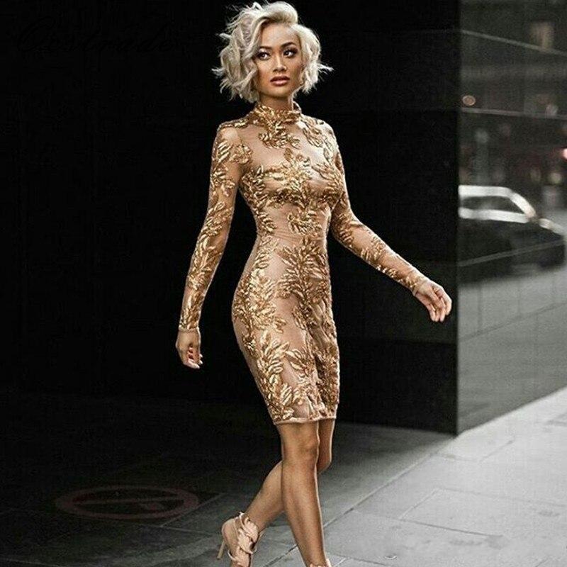 2020 eleganti abiti da cocktail Medio Oriente in oro elegante Abito da tea-lunghezza Tè abito da ballo formale abiti da partito Abendkleider Robe de Soiree
