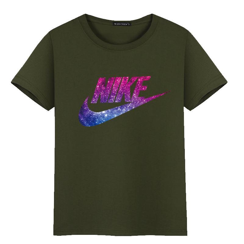 Compre NIKE 2019 Nuevo Hip Hop Camiseta Para Hombre Moda Casual Para Mujer  Camiseta Deportiva De Manga Corta Verano Sección Delgada 07 A 16,58 € Del  ...