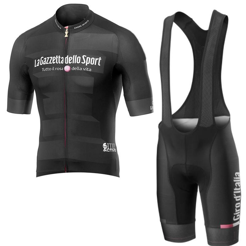 2019 Pro Team Tour De Italien Radfahren Jersey Bike Wear Sommer Stil Kurzarm Tops Trägerhose Sets Atmungsaktiv Schnell Trocknend Kleidung K041503