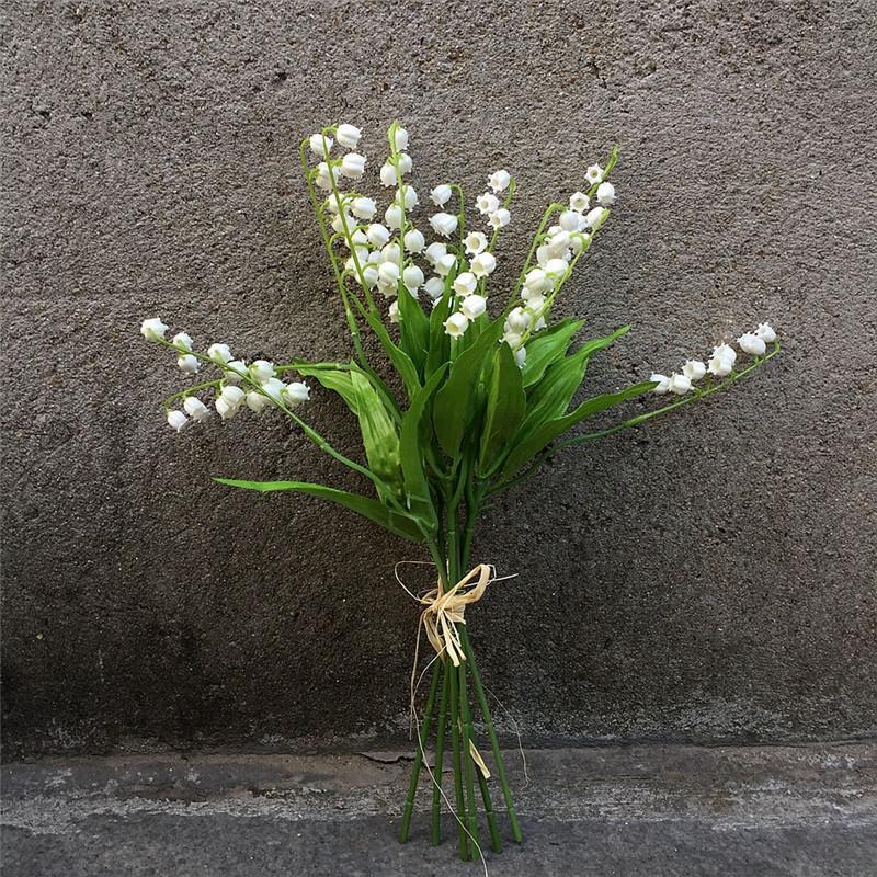 10 шт. / лот искусственные колокольчики цветы пластиковые ветер орхидеи Флорес для домашнего стола декор свадебные украшения поддельные цветок венок