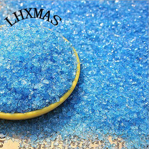 250G / 1LOT حوض السمك للدبابات الديكور بحر الجليد الأزرق زجاج الرمل زجاج حوض الرمل أحواض اكسسوارات A017