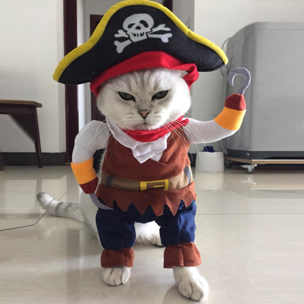 Pet Clothes Cosplay Pirate Dogs Cat Halloween Cute Costume Clothing Comfort For Small Medium Dog New Arrival 5822