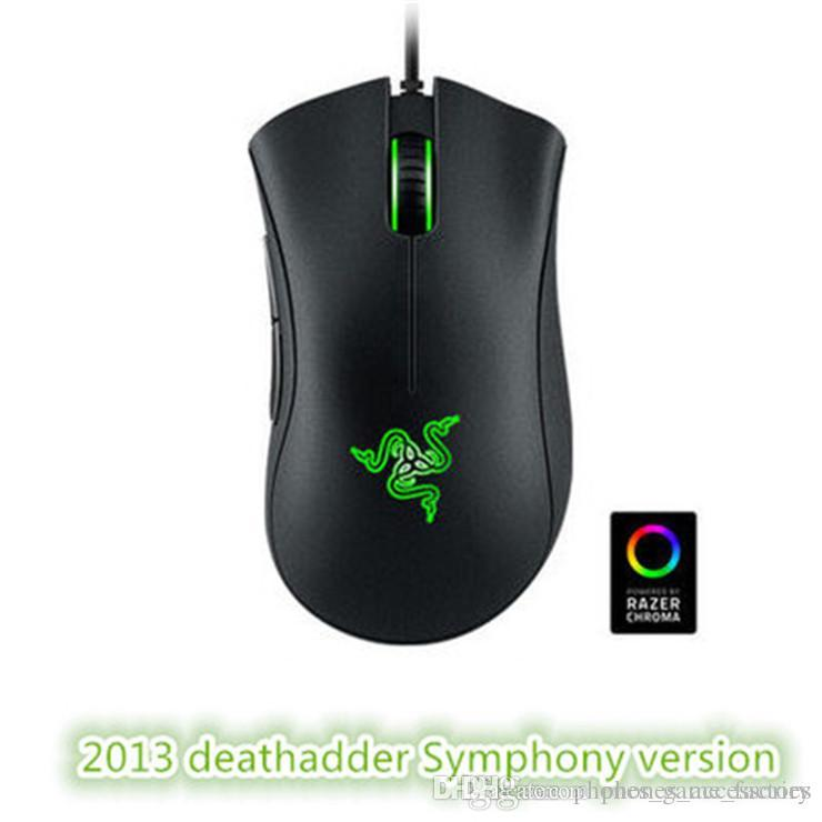Factory direct sell razer deathadder chroma symphony 1600dpi USB wired optical mouse gaming mouse computer game mouse with retail