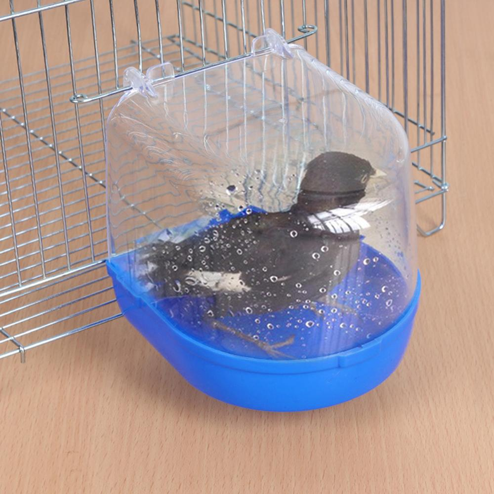 Water Bath Tub For Pet Parakeet Birds Parrots Cage Hanging Accessory Bowl Bird bath Pet Birds Cage Hanging Bathtub Shower Bird