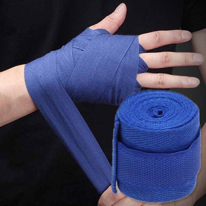 rist Support 1pc 2.5M Cotton kick boxing bandage wrist straps Sport Strap Boxing Bandage Muay MMA Taekwondo Hand Gloves Wraps Hand Protec...