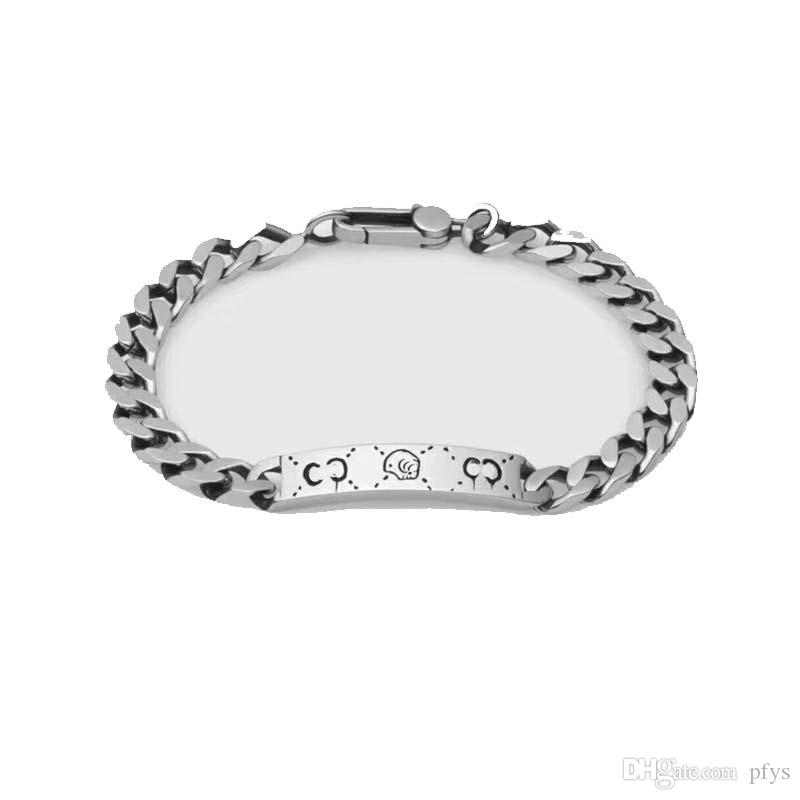 new 925 silver Sterling silver skull bracelet Fashion Punk Handmade Original Jewelry Free PM2.5 filter type washable reusable mask