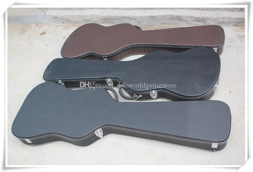 4/5/6 Strings Elektrik Bas Gitar Siyah Hardcase için Logo / Renk özelleştirilebilir