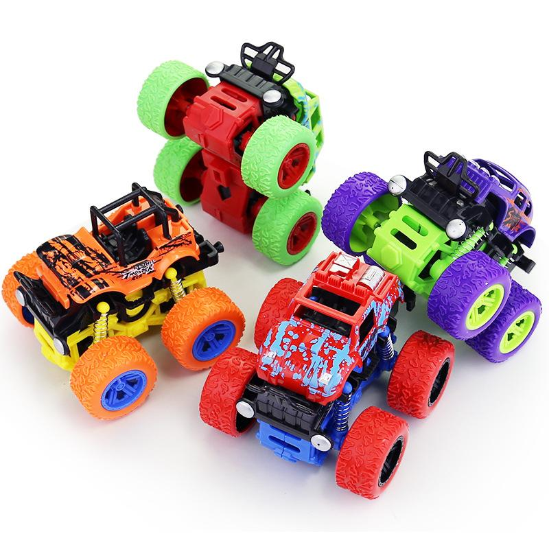 1:36 Scale 4WD Off-Road Vehicle Kids Stunt Car Toys Inertia & Friction Cars Diecast Model Cars
