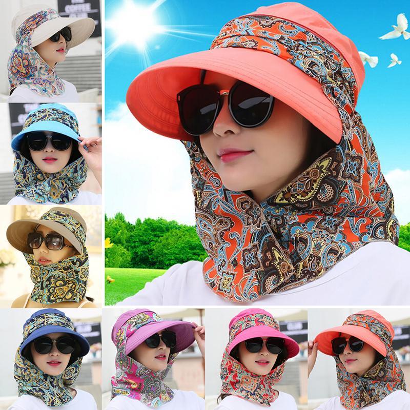 챙이 넓은 꽃 목 안면 보호 비치 모자를 들어 여성 이동식 레이디 여성 드레스 모자 파나마 Chapeau 팜므 여성 Sunbonnet