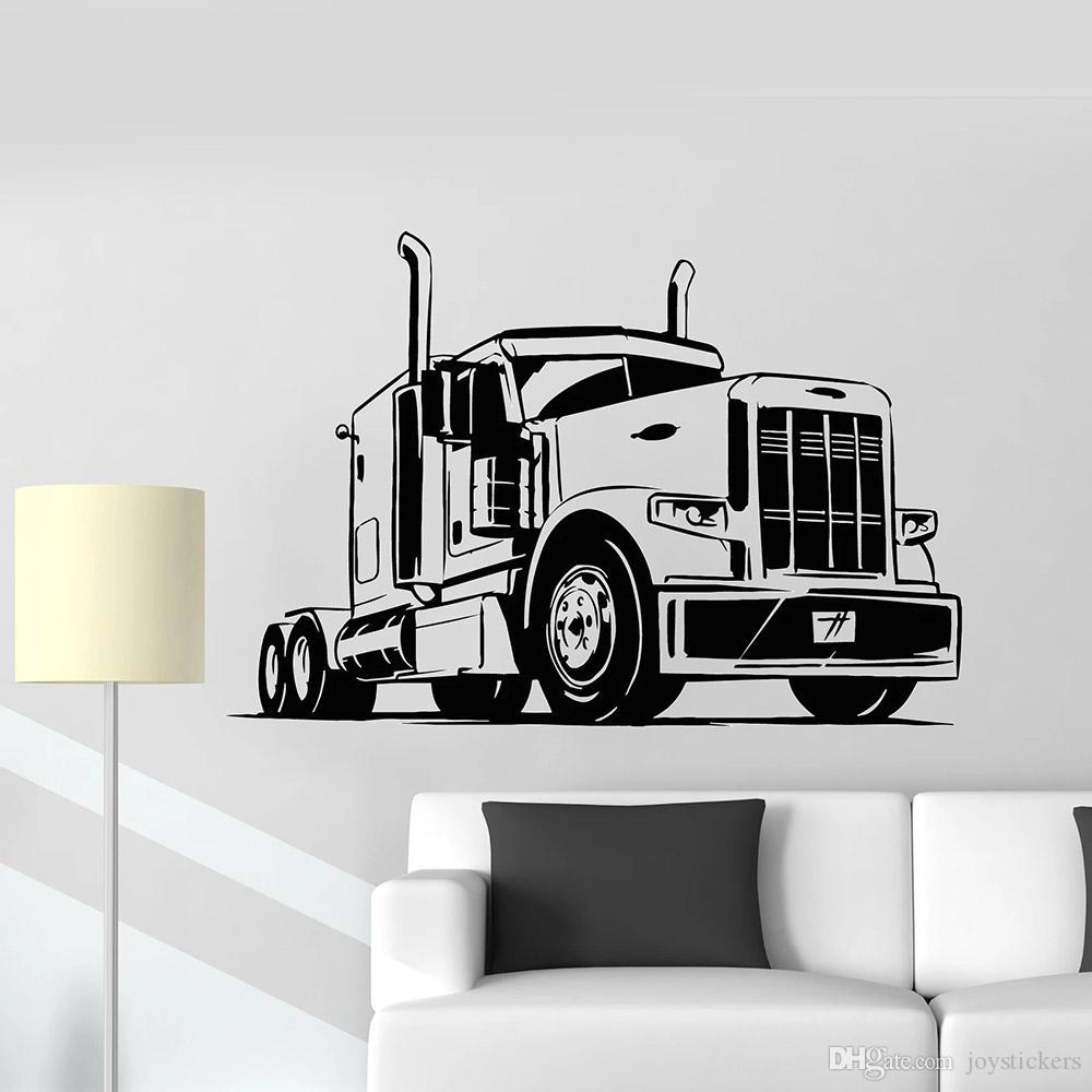 Car Vinyl Wall Decal pour jouer Truck Room machine Decor Garage véhicule automobile Stickers muraux pour vivre Papiers peints Art Chambre