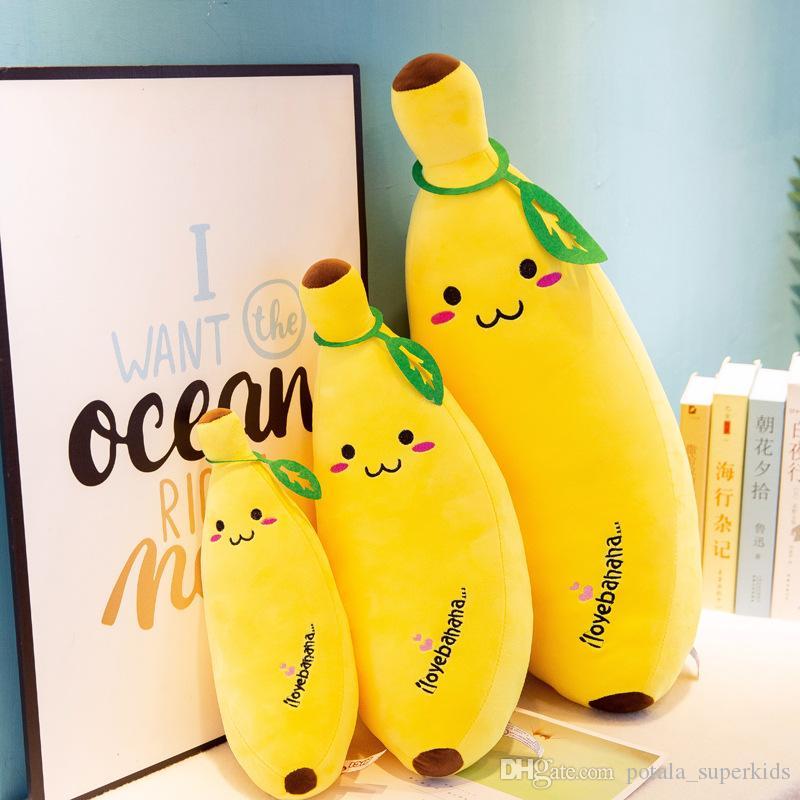 Simulation Plush Banana Pillow 35CM Banana Kawaii Cushion Toy Dolls Super Soft Fruit Design Decoration Gifts For Kids Children Birthday
