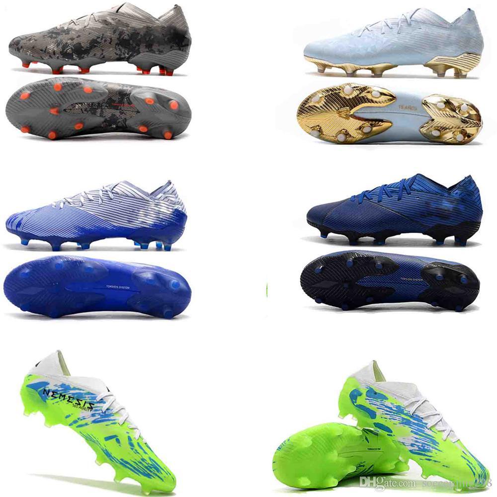 New Nemeziz 19+ FG Spider-Man Polarize Hardwired Soccer Shoes Mens High Ankle Boots Cleats 2020 Hot Sale Nemeziz 19.1 Size Eur 39-45