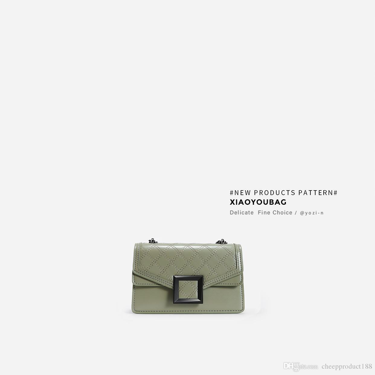 cadeia Lingge saco pequeno quadrado bolsas nova moda 2019 bolsa de mensageiro