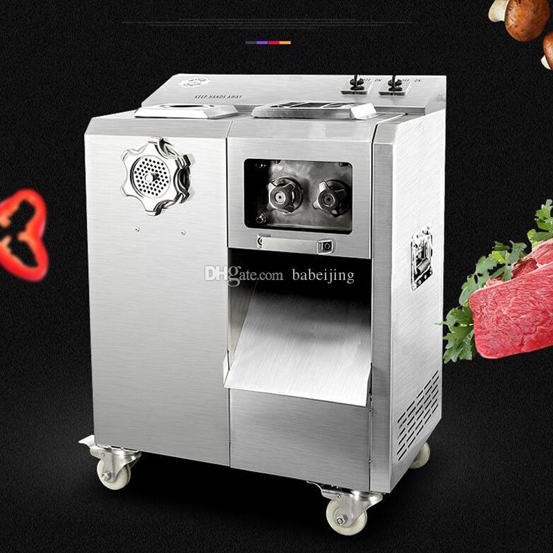 Trancheuse de grande machine trancheuse à viande Kitchen vertical machine de découpage de viande multifonctions groupe automatique de couteau amovible Machine de coupe de viande