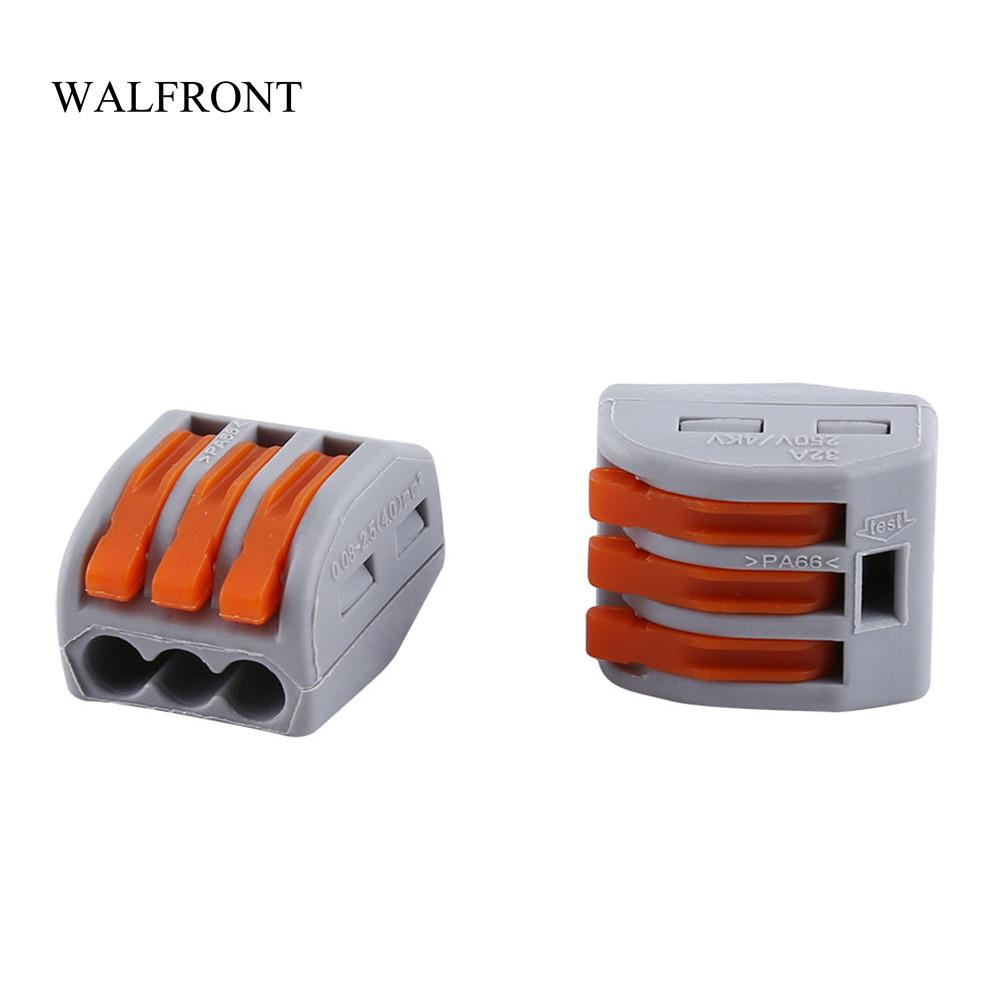 Freeshipping 20pcs/Lot *10Electric Cable Connector Reusable Spring Lever Terminal Block 2/3/5 Way Wire Connector PCB Universal Terminal