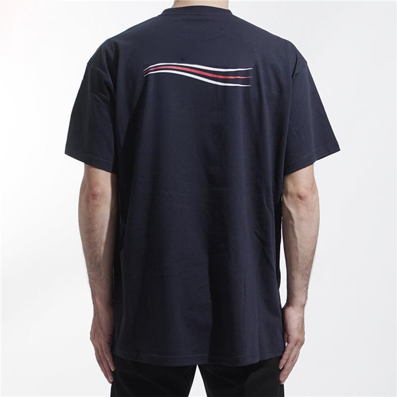 20ss solido Logo Color Wave Tee Classic Logo Lettera Stampa Uomini maniche corte donna traspirante High Street T-Shirt T di estate HFYMTX785