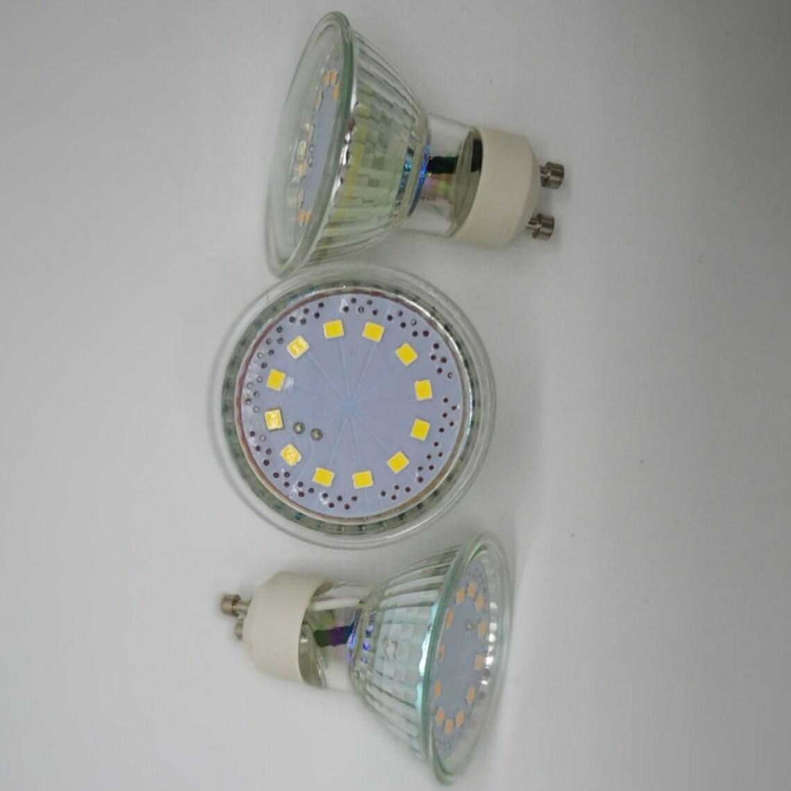Venda por grosso de lâmpadas SMD 3W AC230v GU10 spotlights AC220V LED Bulbo cerâmico vidro quente branco 3000K 4000K Ra80 transporte gratuito