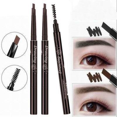 5 couleurs Brow Crayon avec la brosse à sourcils Eyeliner Long Lasting Ombre Peinture imperméable maquillage Livraison gratuite