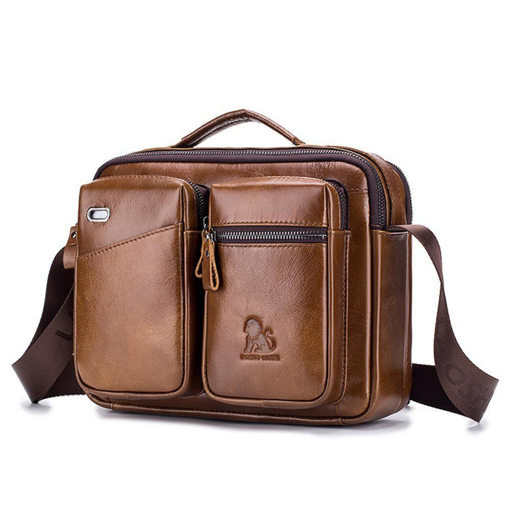 Роскошные сумки Purses15.6 дюймовый водонепроницаемый Vintage натуральная кожа Canvas портфель Большой Satchel сумки на ремне, кожа портативный компьютер сумка