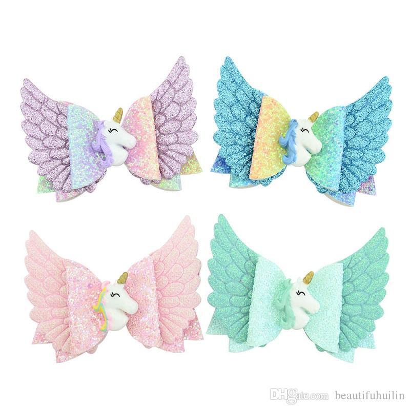 Angel Wing Barrettes