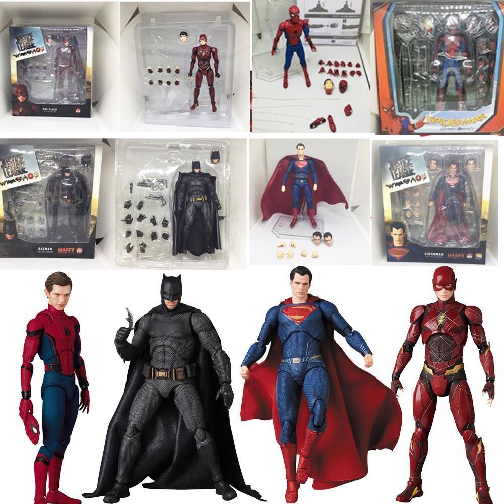 DC دوري العدل بطل السوبر MAFEX MAF باتمان 056 فلاش 058 المرأة المعجزة 048 سوبرمان 057 سبايدرمان 047 عمل الشكل دمية لعبة