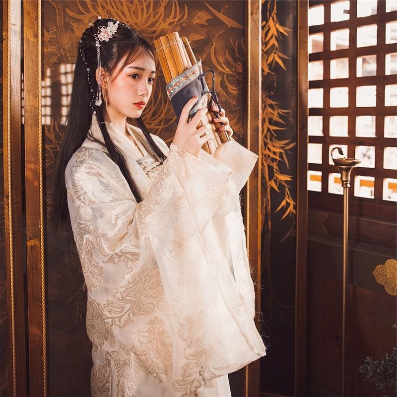 Hanfu traje estilo chino ropa elegante para las mujeres chinas antiguas y tradicionales Mujer danza popular de la ropa del desgaste