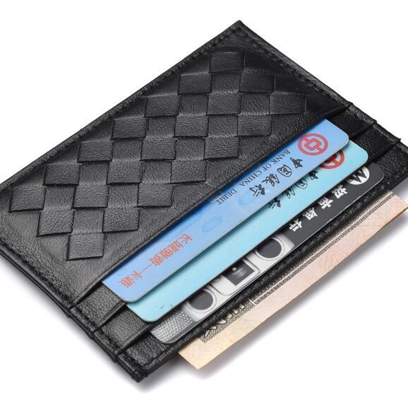 Top-Qualität Luxus Designer klassische berühmte Männer Frauen berühmte echtes Leder Kreditkarteninhaber Mini Brieftasche Bank Cark Inhaber