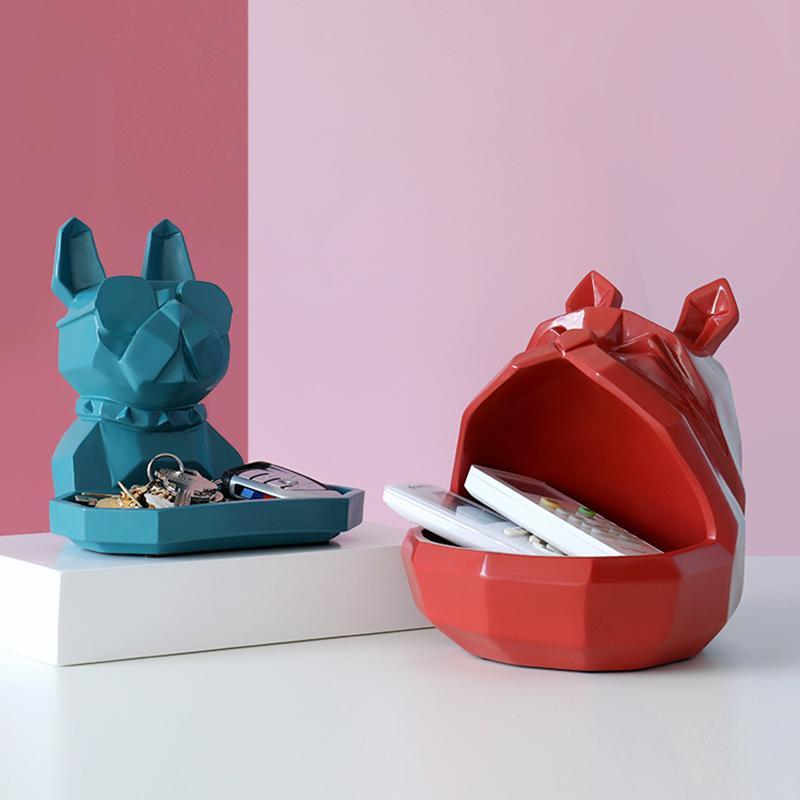 Nordic Harz Gesetz Kampf Hund Multifunktions Schlüssel Fernbedienung Schmuck Kosmetik Aufbewahrungsbox Amerikanischen Haushalt Tier Dekoration