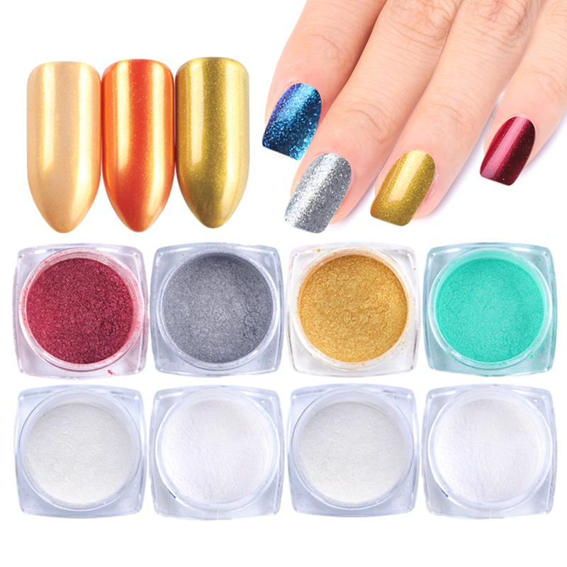 Compre 05g Brillo Para Uñas En Polvo Espejo Mágico Polvo Para Uñas Oro Brillante Pigmento Cromo Dip Polvo Holographic Manicure Polish Set Trdp01 16 A