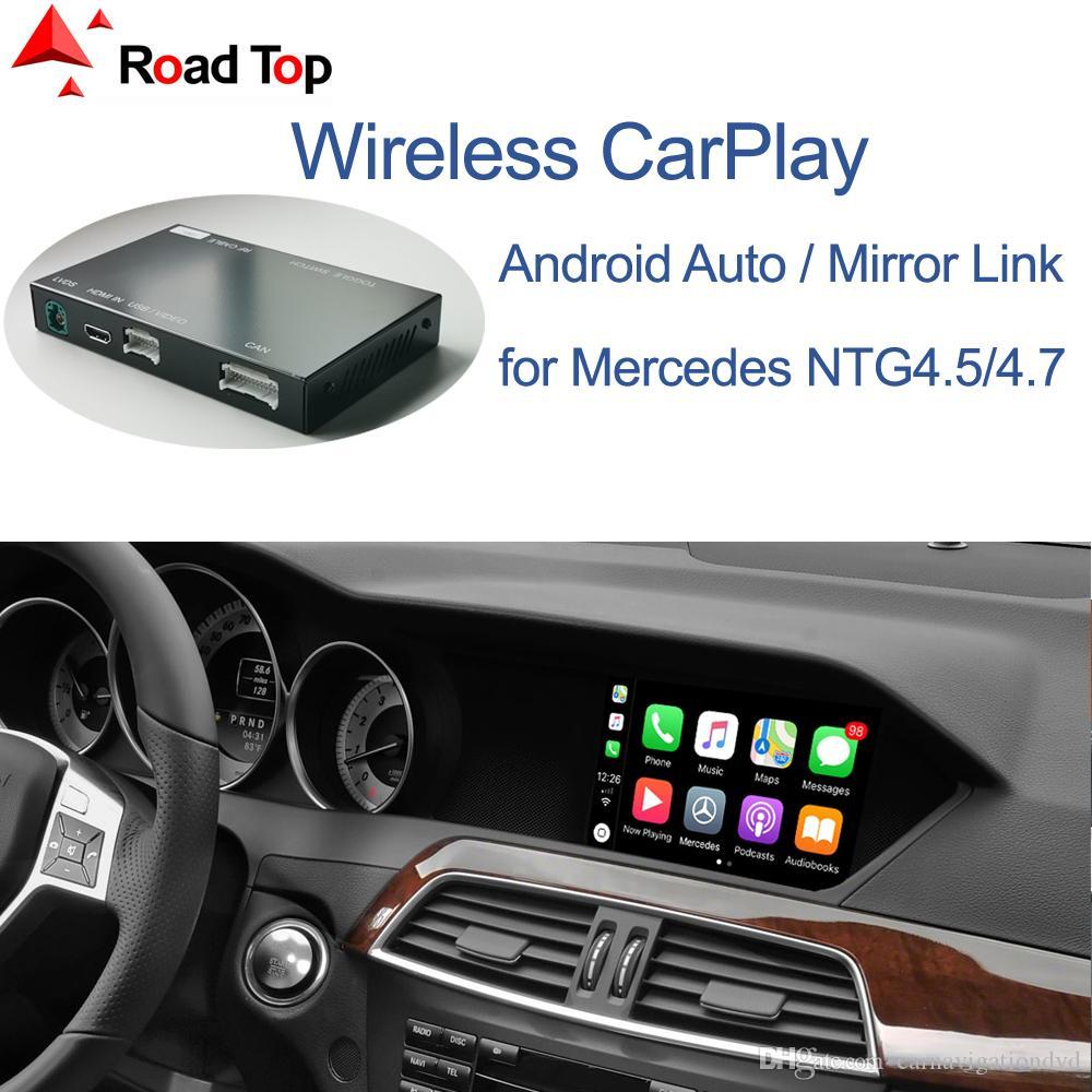 كاربلا لاسلكي لمرسيدس بنز C-Class W204 2011-2014، مع الروبوت مرآة السيارات رابط AirPlay Car Play وظائف