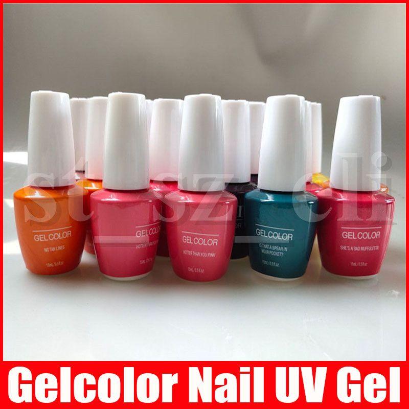 15ML Gelcolor نقع معطلة الأشعة فوق البنفسجية هلام مسمار البولندية Fangernail تزيين وتجميل الأظافر فن تصميم 108 الألوان