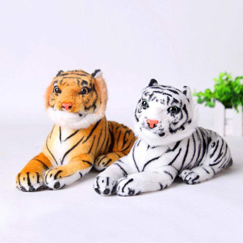 حار بيع KAWAII لطيف أبيض أصفر 20 سم نمور القطيفة ألعاب محاكاة النمور لينة محشوة الدمى الطفل وسادة القطيفة لعب كيد