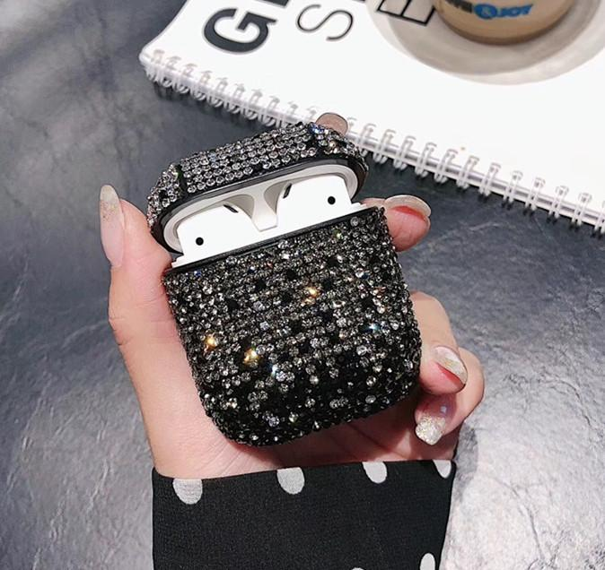 Meilleure couverture Diamant brillant Glistening Bingbing AirPod Pour Apple AirPod Protecteur Pour pods Air AirPod Case
