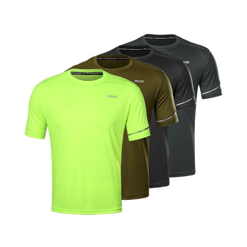 Sports d'été T-shirt des hommes et des femmes RUNNING Jersey section mince à manches courtes à séchage rapide 19T1 perméable à l'air