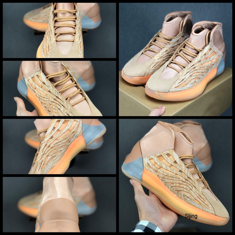 Erkek Kuantum Basketbol Ayakkabıları Üçlü Siyah Zebra Kanye batı 3M Sneakers Sports Yansıtıcı Spor sepetleri Eğitmenler Atletik des Chaussures