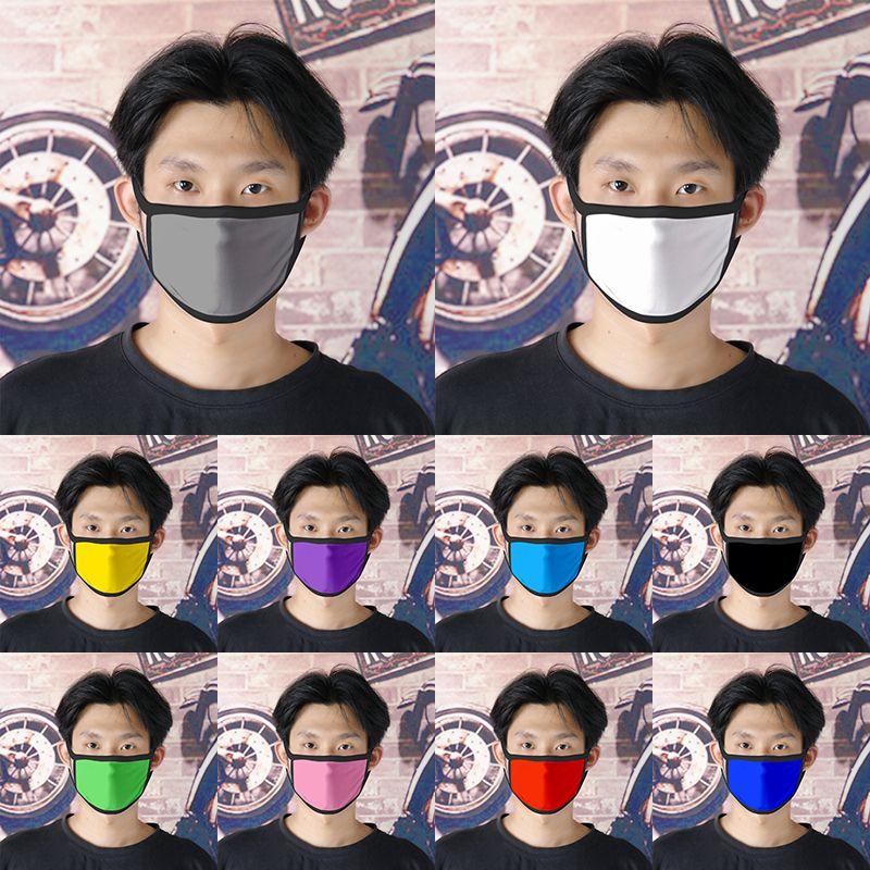 10 Solid Color Mask Blank ткань Может быть настроены логотип пыли и смога маска Летний дышащий материал XD23575