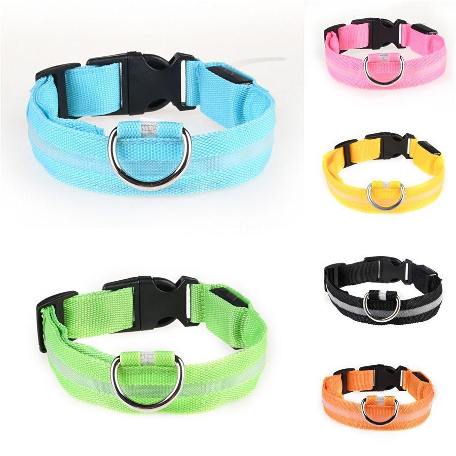 Light Up Pet Led Moda Collar carga USB Dog Terço de fibra óptica tubo redondo do filhote de cachorro Coleiras Avisar Na Noite 11 5GL Zz # 254