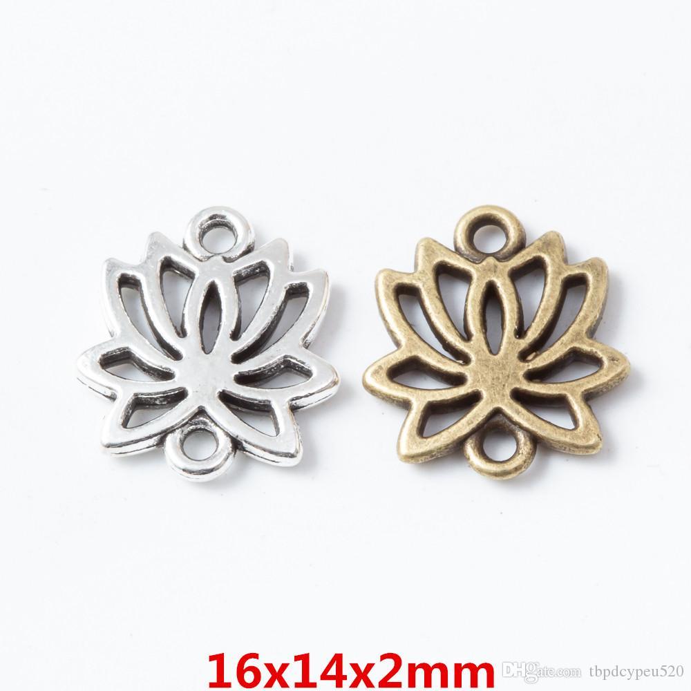diy takı bulgular 6695 için toptan bağbozumu Metal Çinko alaşım takılar Yoga lotus kolye