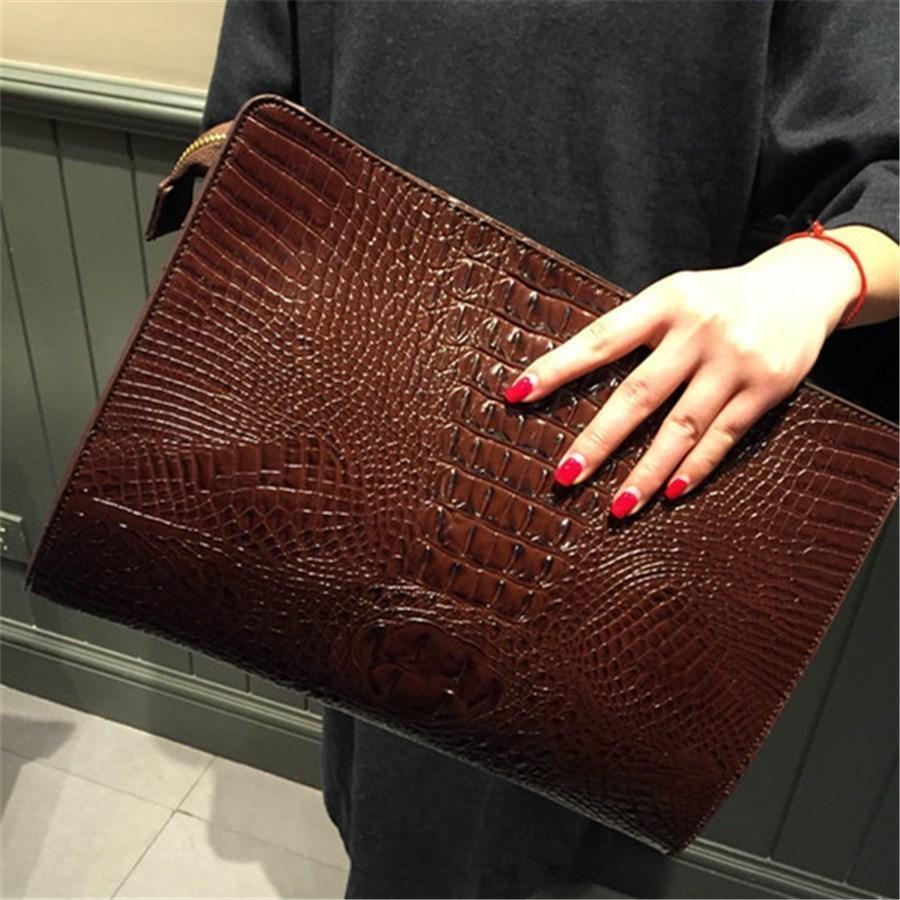Nouvelle marque Crocodile Motif jour Pu embrayages cuir enveloppe femmes Messenger Bag Praty Sac à main de soirée Sacs à Y19052801
