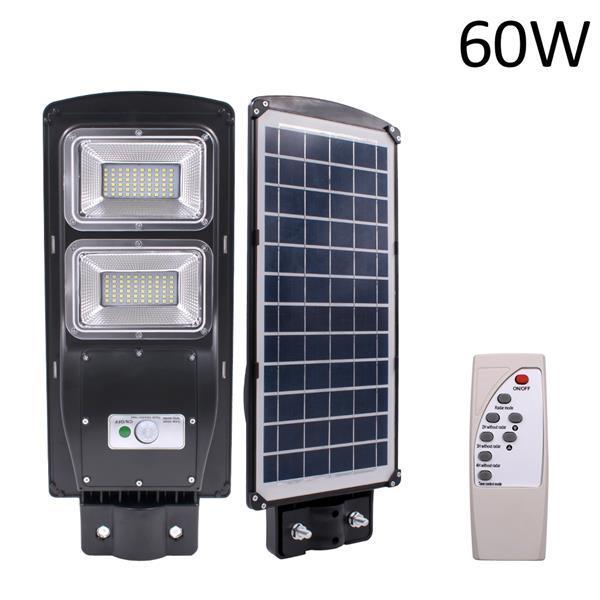 60W 90W solaire Capteur Lampadaires Éclairage extérieur éclairage routier LED haute pôles choix lumières réverbères watefrom USA prendre 3-7 jours
